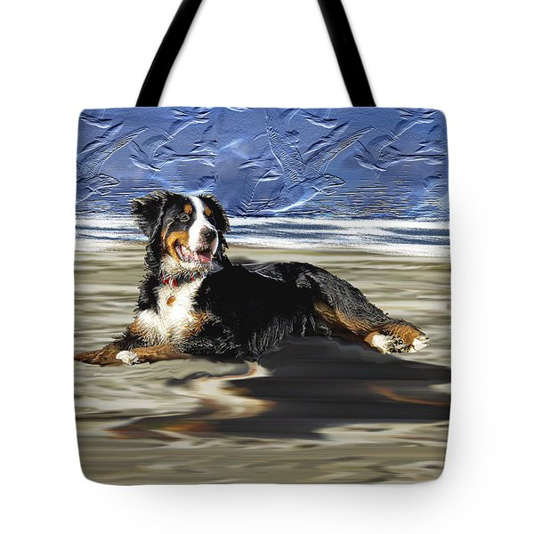 Tote Bag featuring the photograph Bernese Mountain Dog by Ericamaxine Price