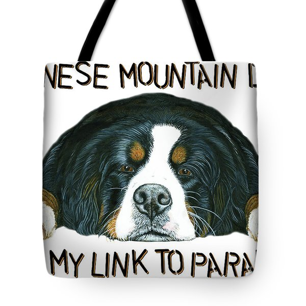 Bernese Mountain Dog Paradise Tote Bag by Liane Weyers