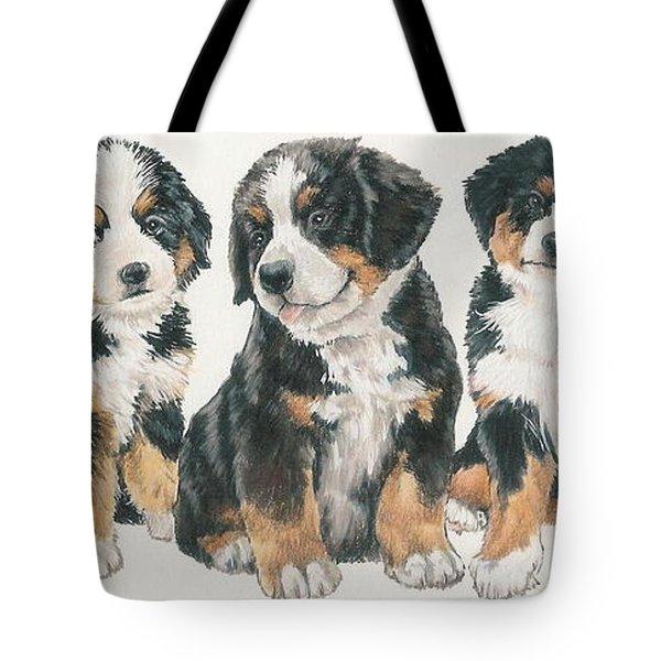 Bernese Mountain Dog Puppies Tote Bag