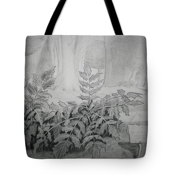 Tote Bag featuring the drawing Bernheim Forest Plant by Stacy C Bottoms