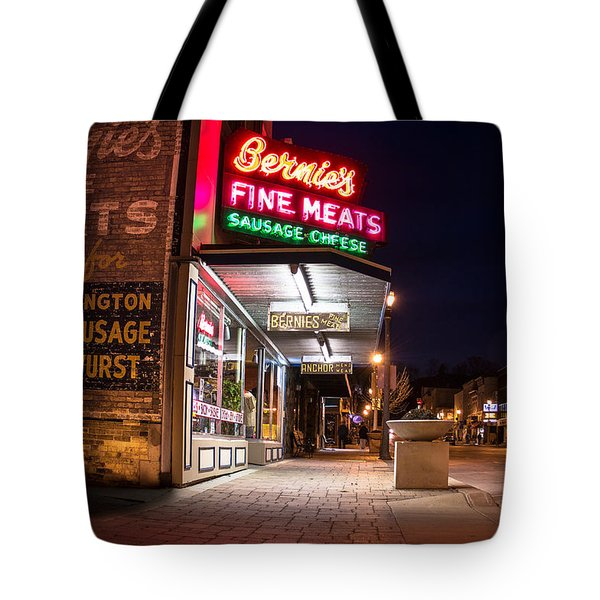 Bernies Fine Meats Signage Tote Bag