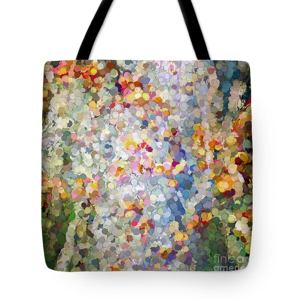 Berries Around The Tree - Abstract Art Tote Bag