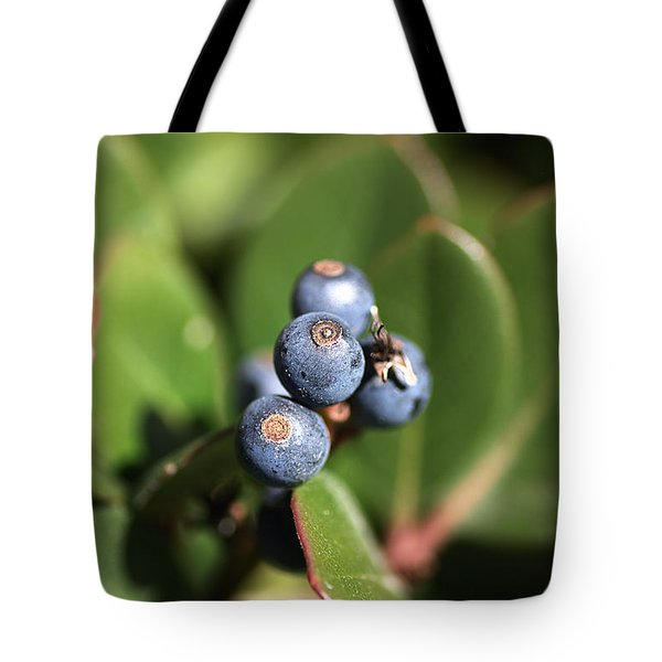 Berries Of Blue Tote Bag by Joy Watson