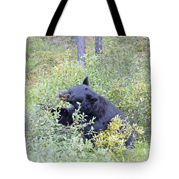 Berry Bear Tote Bag by Wanda Krack