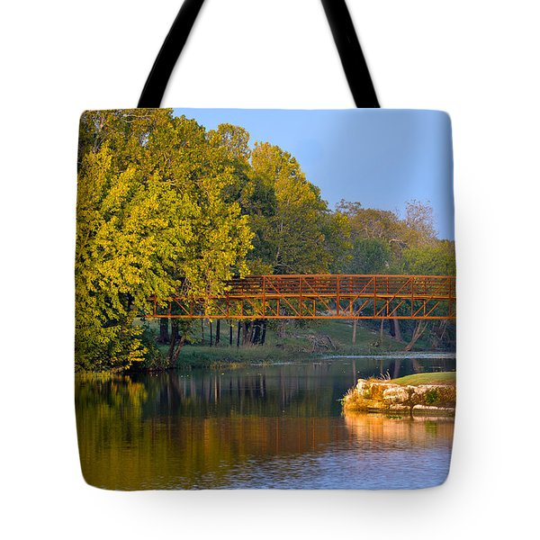 Berry Creek Bridge Tote Bag