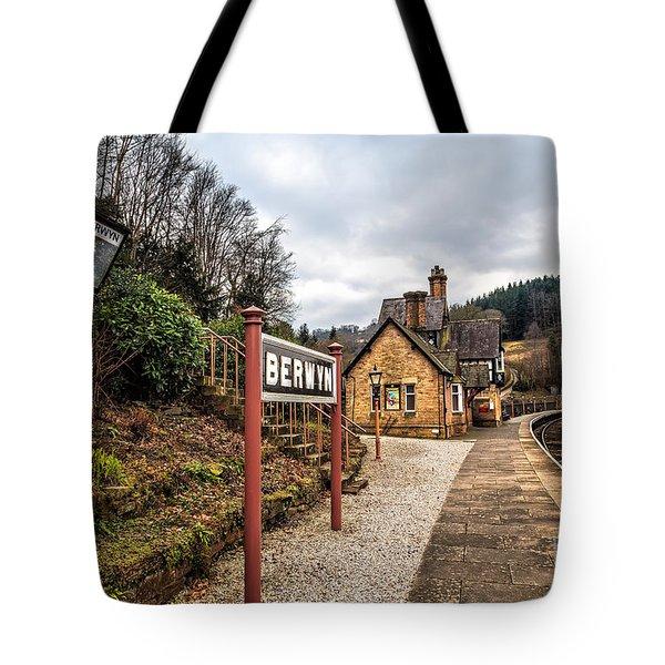 Berwyn Station Tote Bag by Adrian Evans