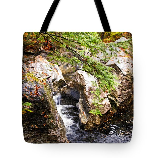 Beside The Water Tote Bag by Bill Howard