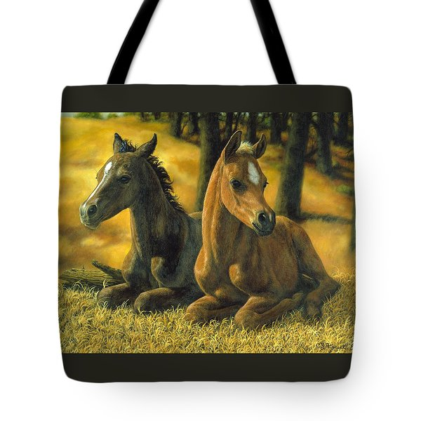 Best Friends Tote Bag by Crista Forest