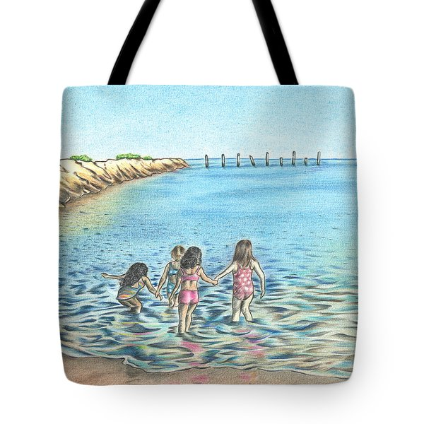 Best Friends Tote Bag by Troy Levesque