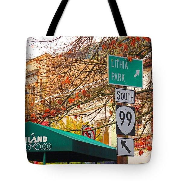 Best Little Town In Oregon Tote Bag by Kris Hiemstra