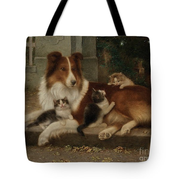 Best Of Friends Tote Bag by Wilhelm Schwar