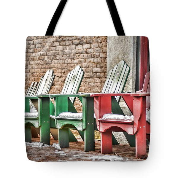 Best Seats In Town Tote Bag by Heather Applegate