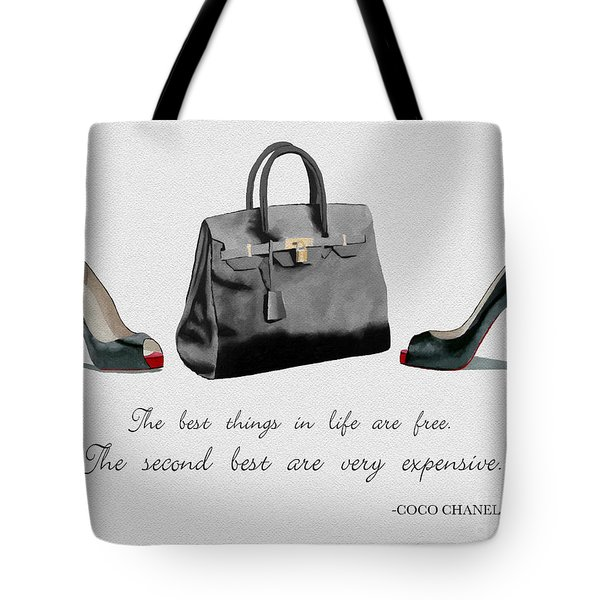 Best Things In Life Tote Bag by Rebecca Jenkins