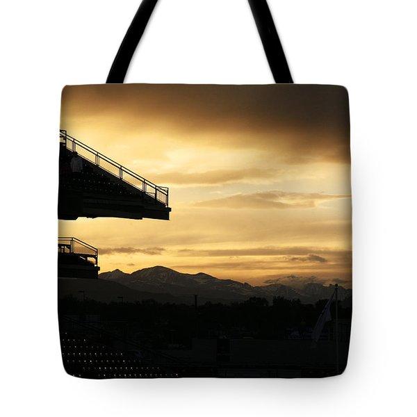 Best View Of All - Rockies Stadium Tote Bag by Marilyn Hunt