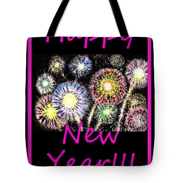 Best Wishes And Happy New Year Tote Bag by Irina Sztukowski