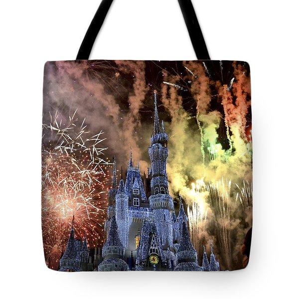 Christmas Wishes Tote Bag by Carol  Bradley