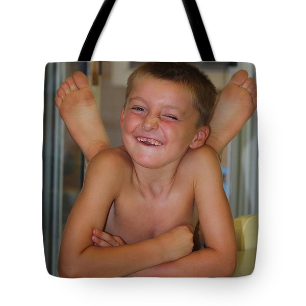 Bet-cha Can't Do This Tote Bag by Patrick Witz