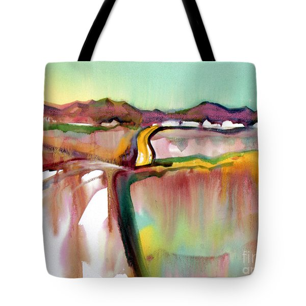 Tote Bag featuring the painting Bethel Road by Teresa Ascone