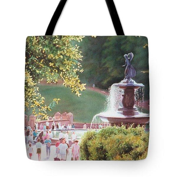 Bethesda Fountain Tote Bag by Daniel Dayley