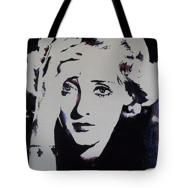 Tote Bag featuring the painting Bette Davis by Cherise Foster