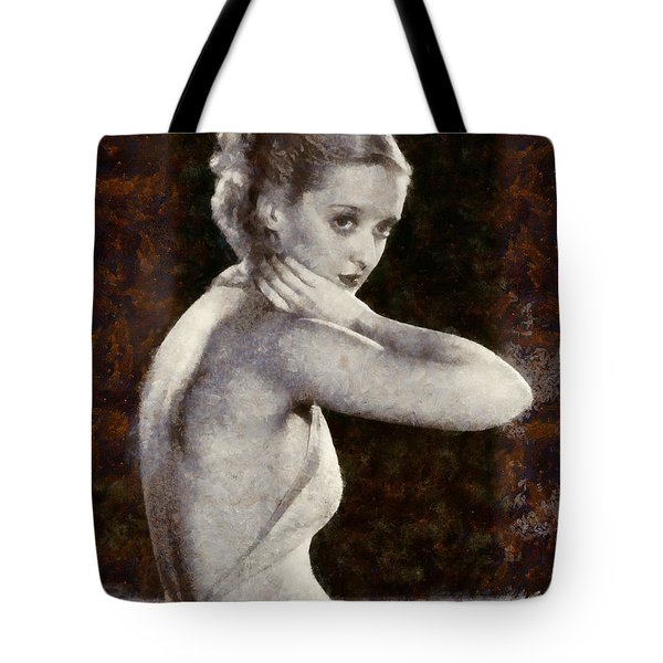 Tote Bag featuring the painting Bette Davis Eyes by Elizabeth Coats