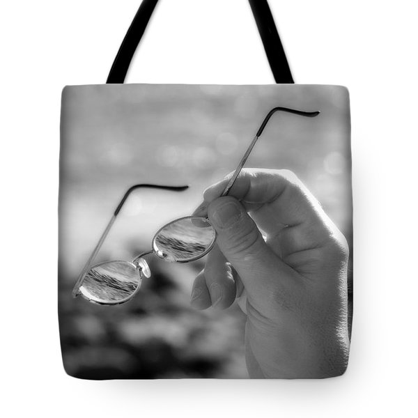 Better To See With Bw Tote Bag by Karol Livote