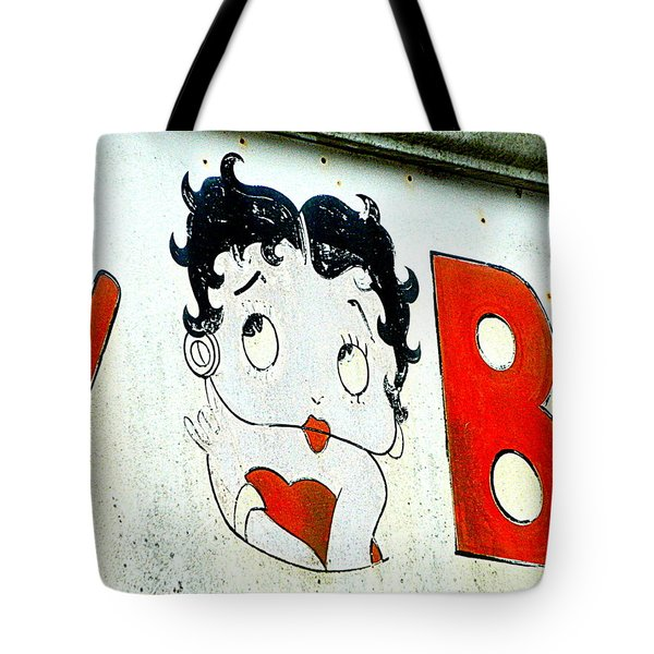 Betty Boop Herself Tote Bag by Kathy Barney