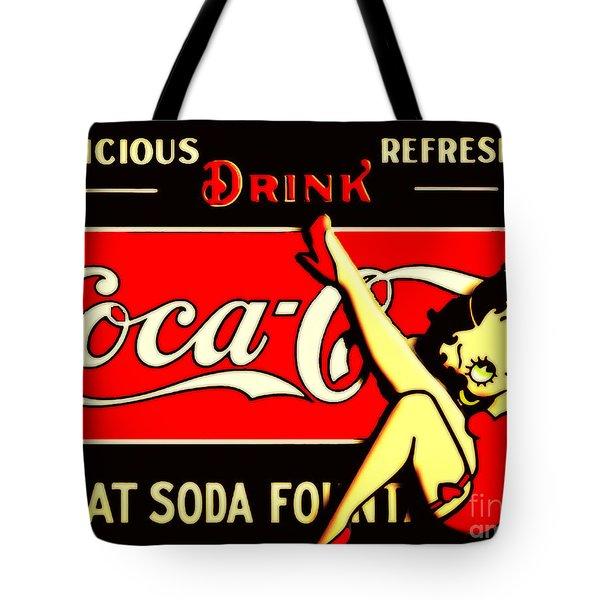 Betty Boop On Coke Tote Bag