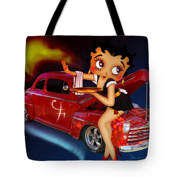 Betty Boop Service1-featued In Comfortable Art Group Tote Bag