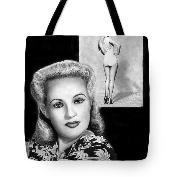 Betty Grable Tote Bag by Peter Piatt