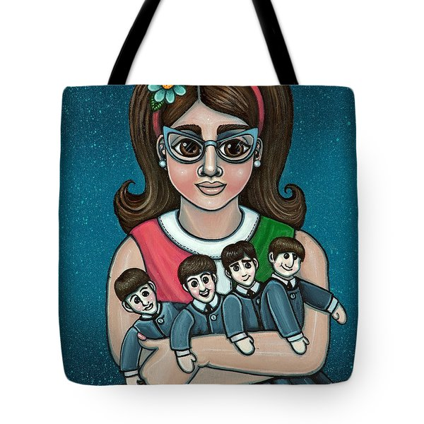 Betty Jeans Beatles Tote Bag