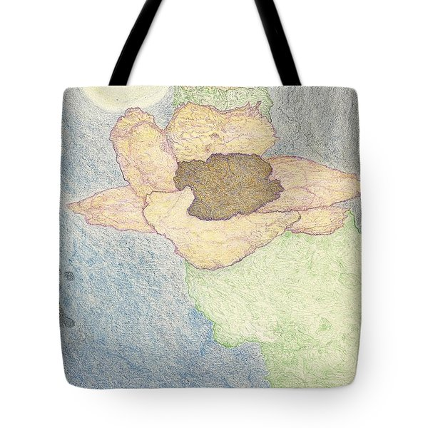 Tote Bag featuring the drawing Between Dreams by Kim Pate