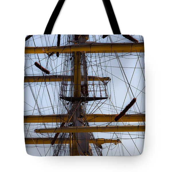 Tote Bag featuring the photograph Between Masts And Ropes by Edgar Laureano