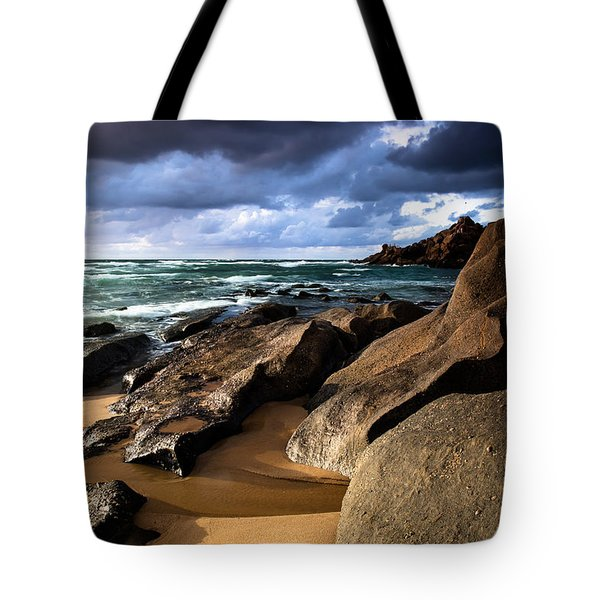 Between Rocks And Water Tote Bag
