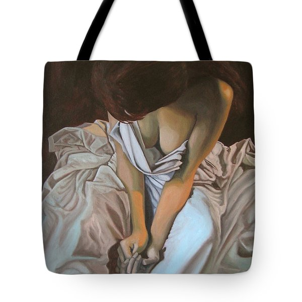 Between The Sheets Tote Bag by Thu Nguyen