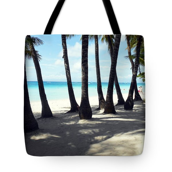 Between The Trees Tote Bag