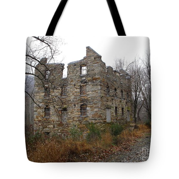 Tote Bag featuring the photograph Beverly Chapman's Mill by Jane Ford