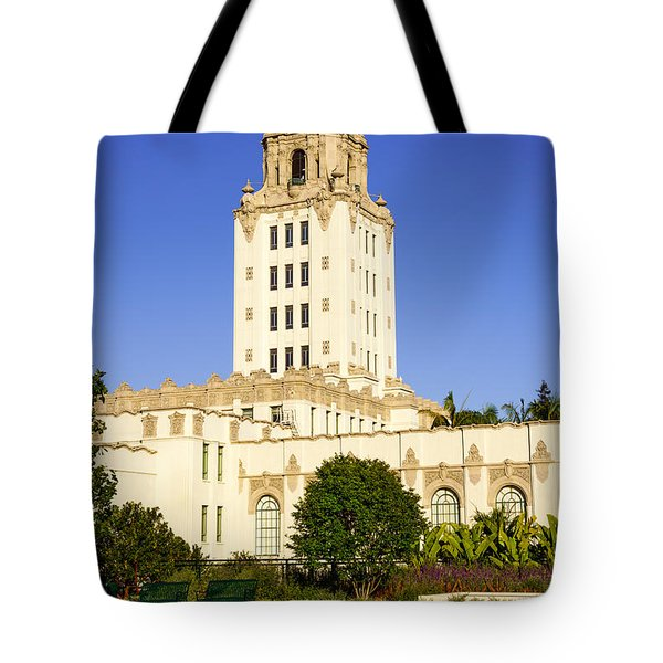 Beverly Hills Police Station Tote Bag by Paul Velgos