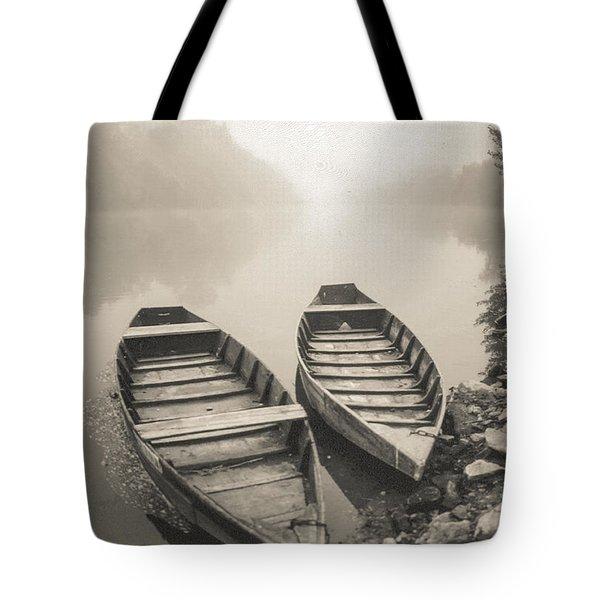 Beynac Boats Tote Bag