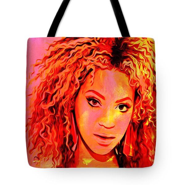 Tote Bag featuring the painting Beyonce by Brian Reaves