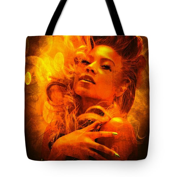 Beyonce Knowles Wrapped In Chocolate - Featured In Comfortable Art Group Tote Bag by EricaMaxine  Price