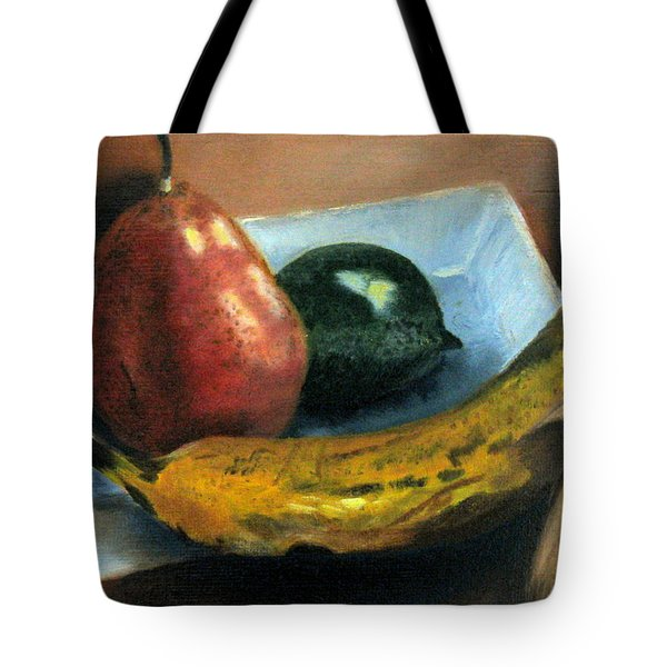 Tote Bag featuring the painting Beyond Banana Nut Bread by LaVonne Hand