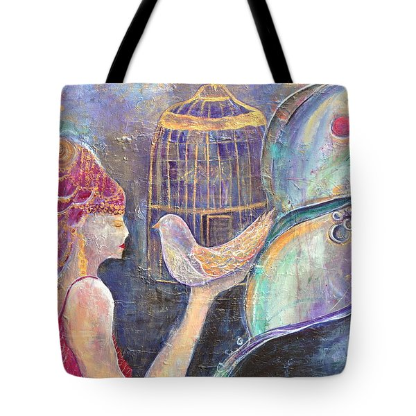 Beyond Gilded Cages Tote Bag by Gail Butters Cohen