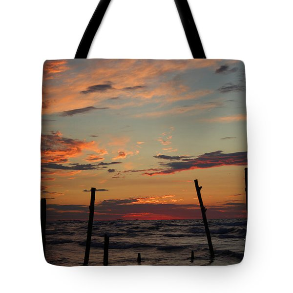 Tote Bag featuring the photograph Beyond The Border by Barbara McMahon