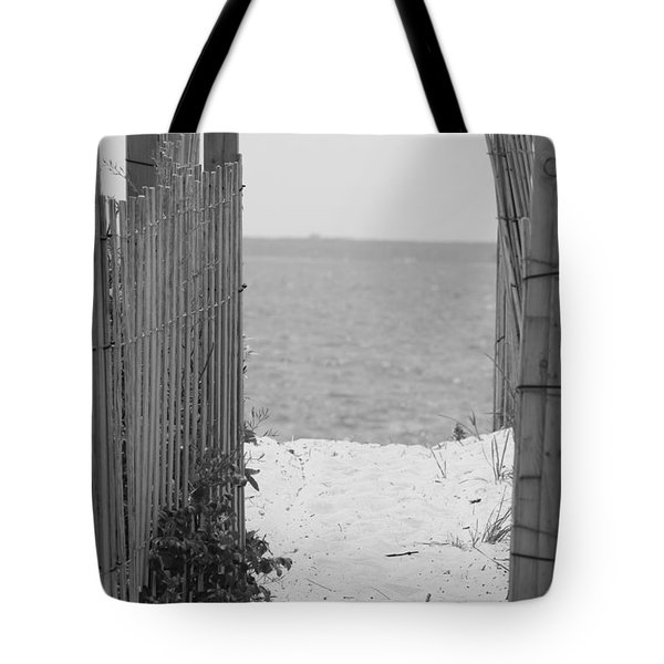 Beyond The Dunes Bw Tote Bag