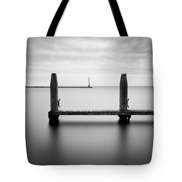 Beyond The Jetty Tote Bag by Dave Bowman