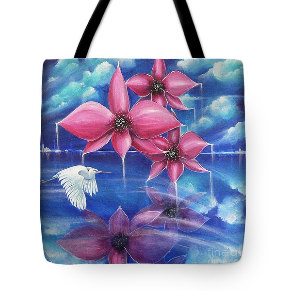 Tote Bag featuring the painting Beyond The Rainbow by S G