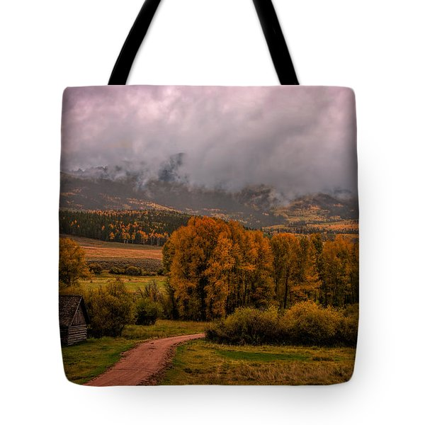 Tote Bag featuring the photograph Beyond The Road by Ken Smith