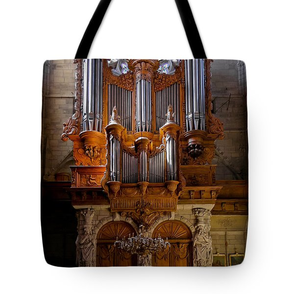 Beziers Pipe Organ Tote Bag