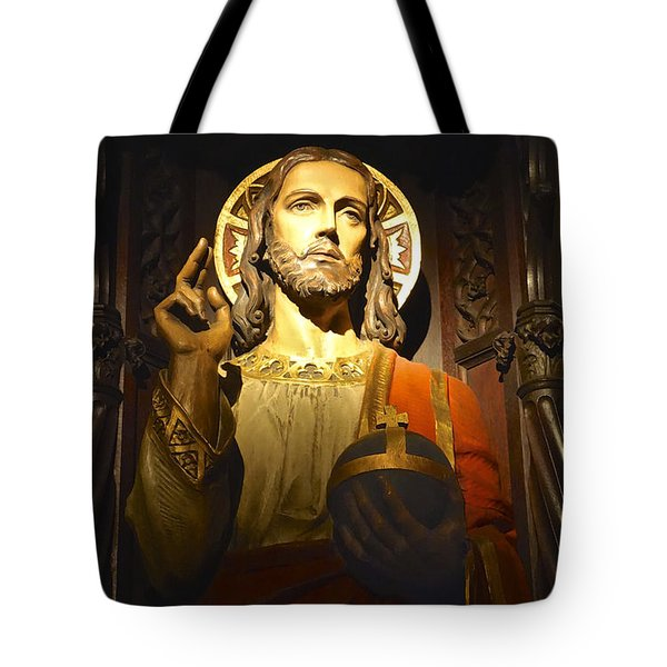 Bible Quote  Mark 6  50 Tote Bag